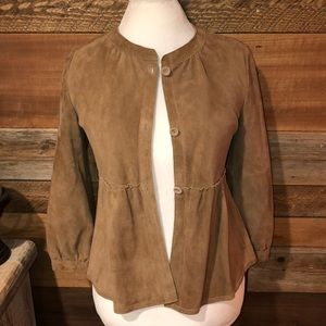 Banana Republic Chestnut Suede Jacket Blazer S